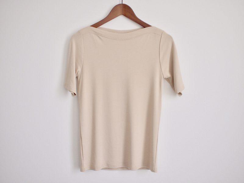 ボートネック半袖Tシャツ
