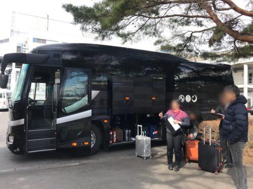 星のや軽井沢の送迎バス