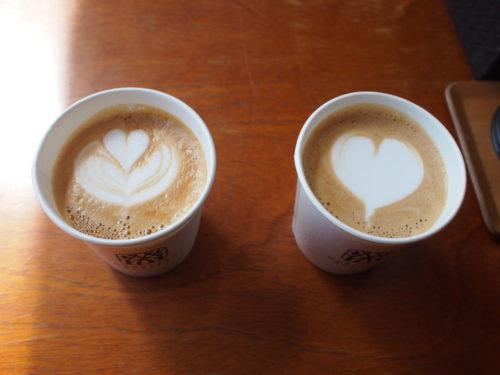 丸山珈琲の可愛いカフェラテ