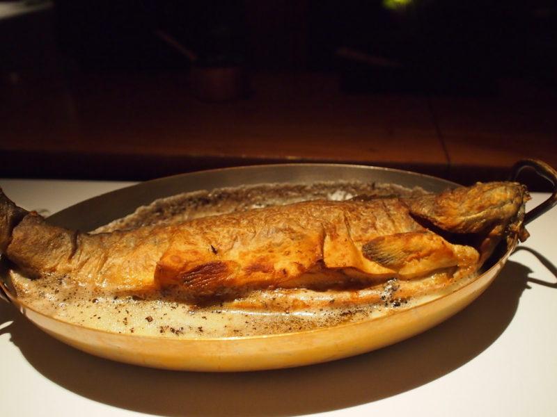まるまる一匹の岩魚