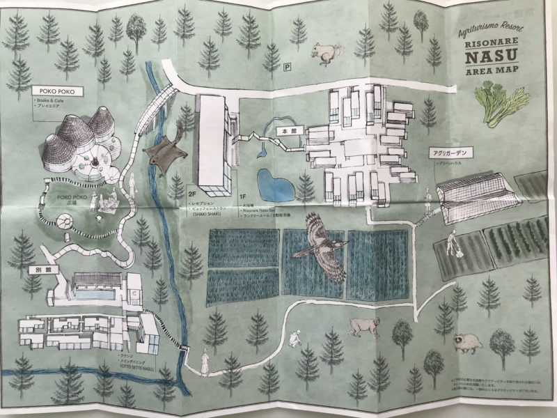 リゾナーレ那須のエリアマップ
