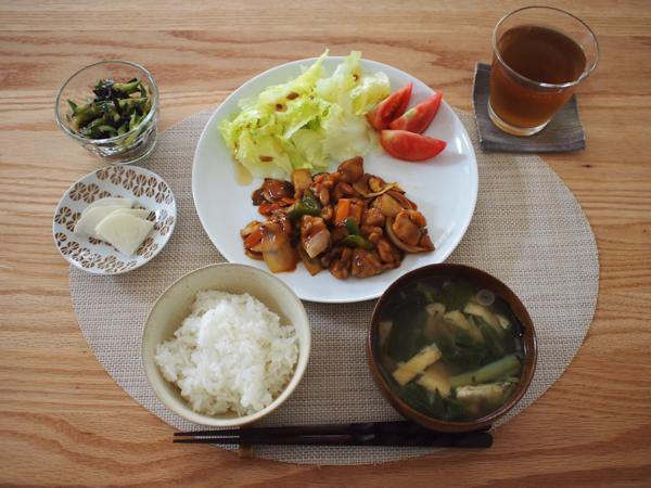 酢鶏の定食